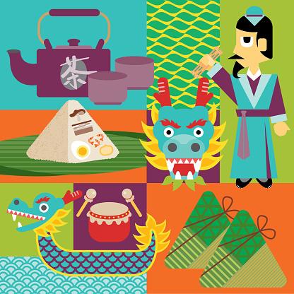 Dragon Boat Festival Icons