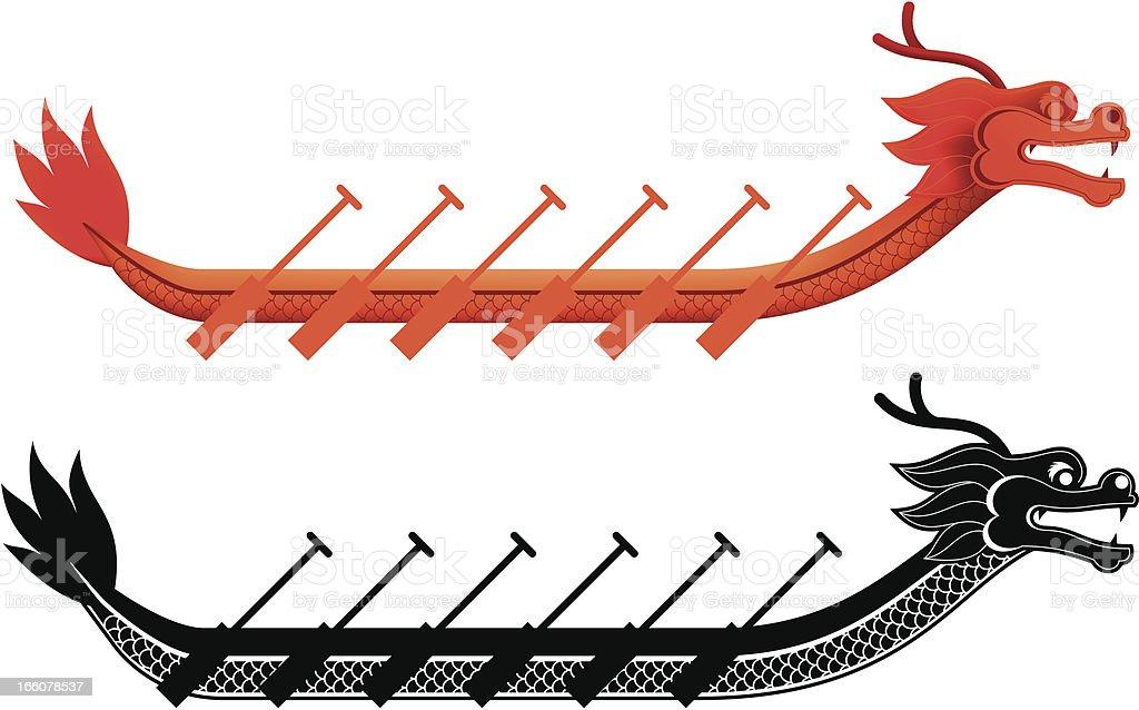 dragon boat vector art illustration