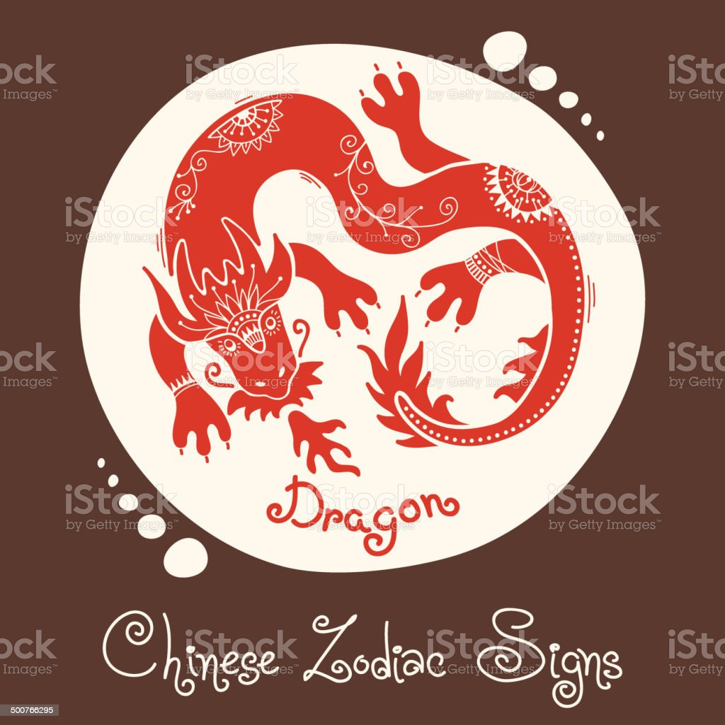 Dragon.  Signe du zodiaque chinois - Illustration vectorielle