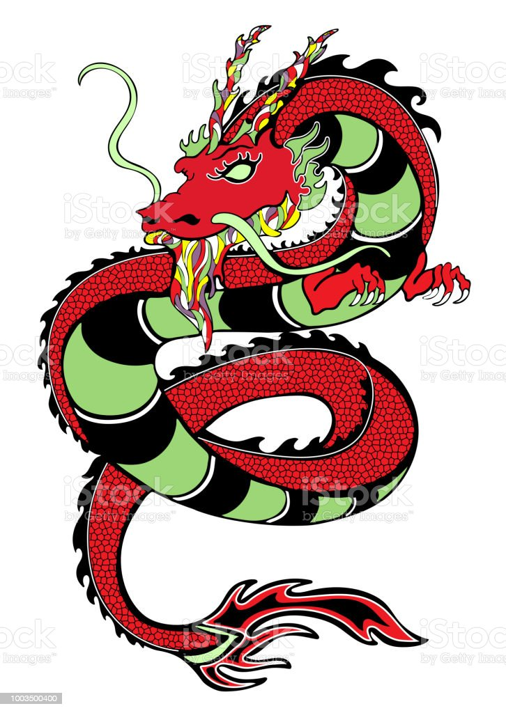 Dragon Main Decoratif Dessin Impression Croquis De Tatouage