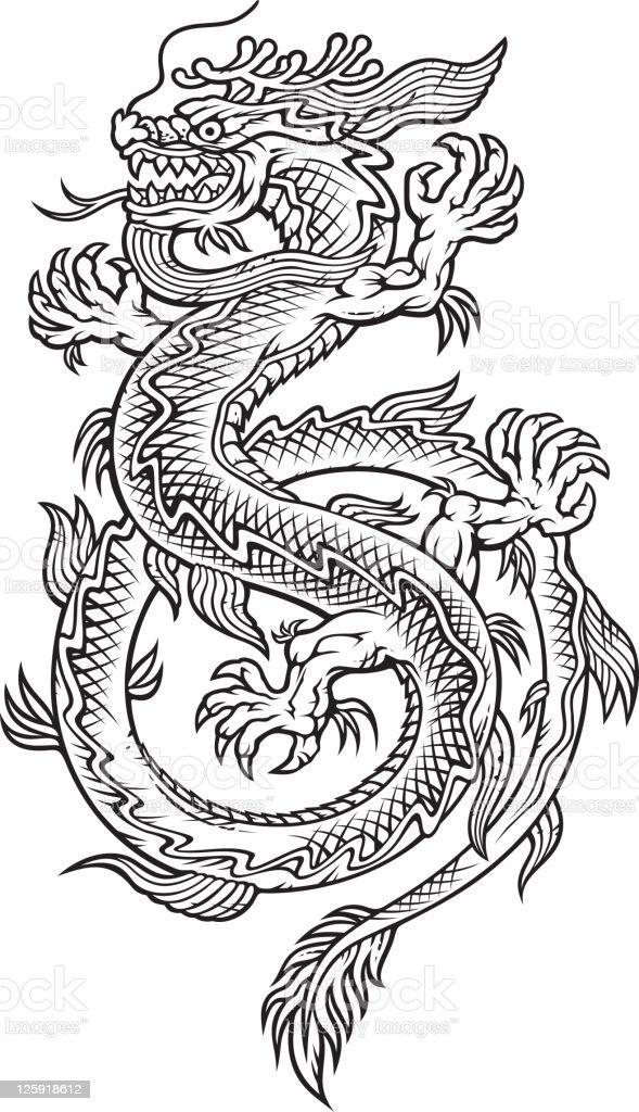 Este dragón - ilustración de arte vectorial
