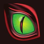 Dragon eye - original realistic vector illustration