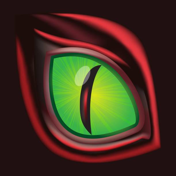 dragon eye - original realistic vector illustration - dragon eye stock illustrations, clip art, cartoons, & icons