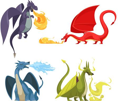 dragon fire illustration