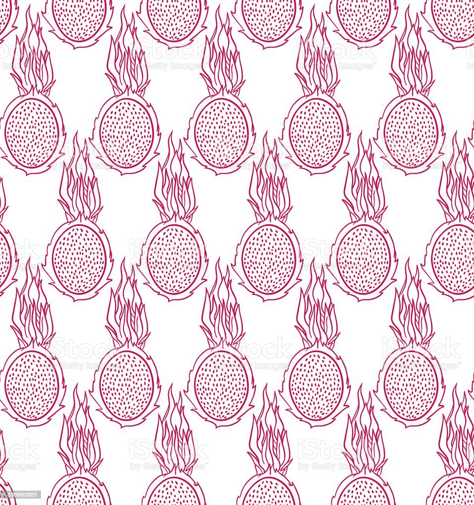 Dragon fruit pattern royalty-free dragon fruit pattern stock vector art & more images of 2015