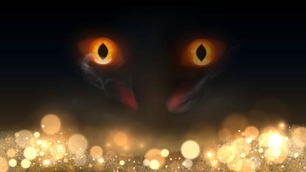 dragon guards gold - dragon eye stock illustrations, clip art, cartoons, & icons