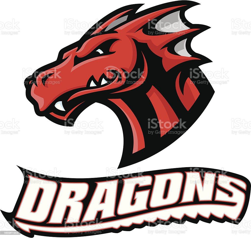 Dragon Head Mascot vector art illustration