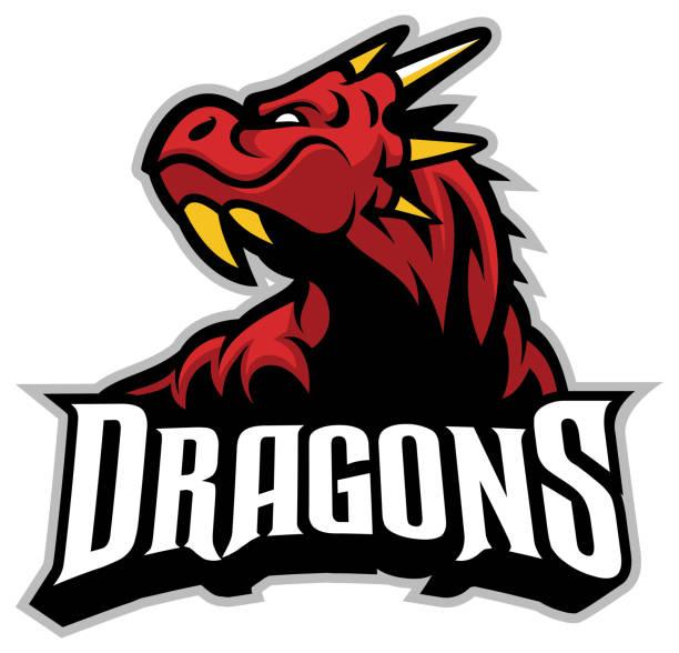 dragon head mascot - dragon stock illustrations