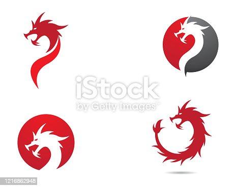 Dragon head symbol illustration