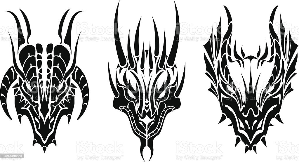Dragon Head Tattoo royalty-free dragon head tattoo stock vector art & more images of abstract