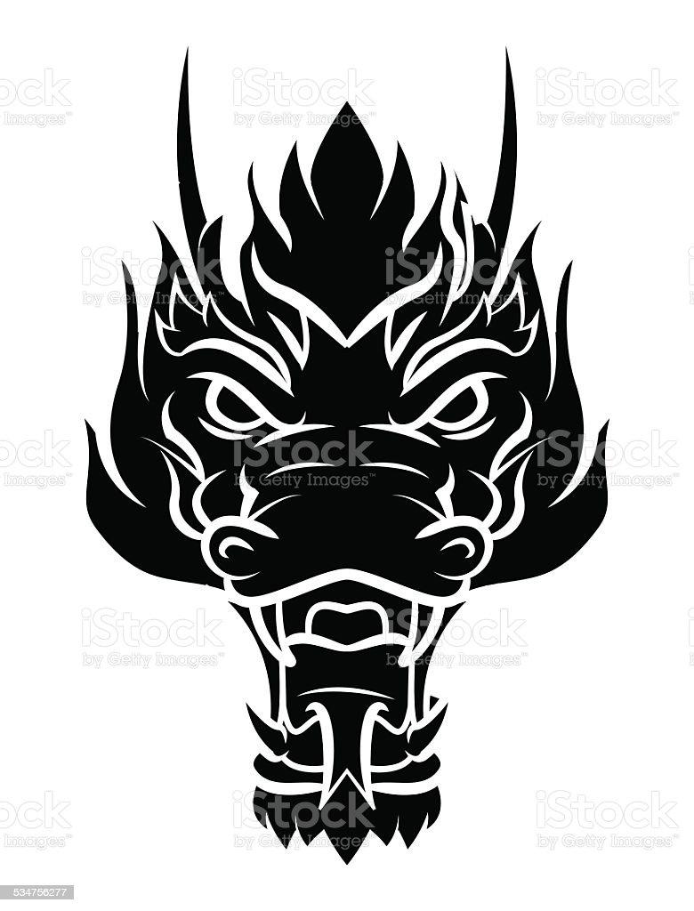 Dragon Head Tattoo Stock Illustration - Download Image Now