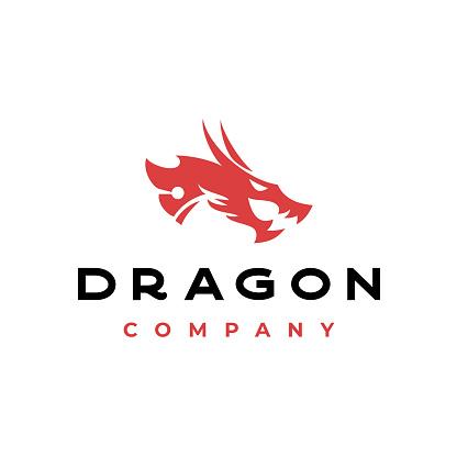 Dragon head Tribal vector stock illustration Indonesia, Dragon, Snake, Logo, Head, China, Myth, Mythology stock illustration Ancient, Animal Body Part, Animal Head, Beauty, Corporate Business