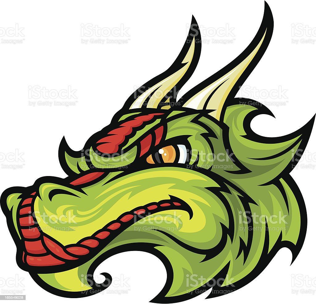 Dragon Head vector art illustration