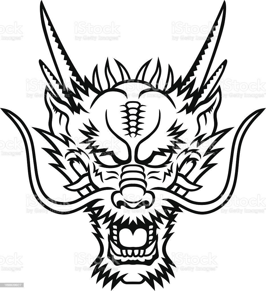 Dragon head royalty-free stock vector art