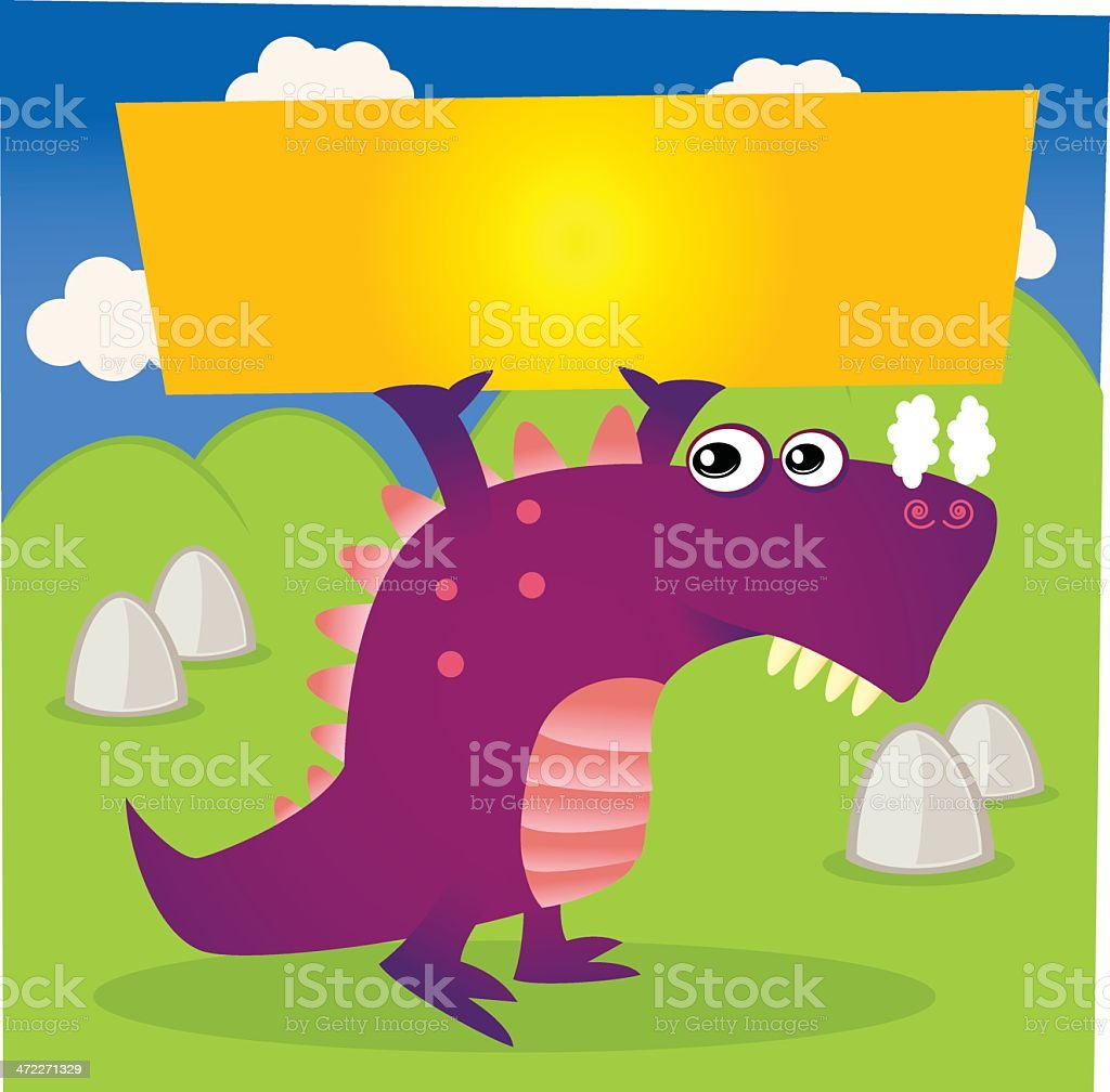 Dragon Holding Up Blank Sign royalty-free dragon holding up blank sign stock vector art & more images of allegory painting