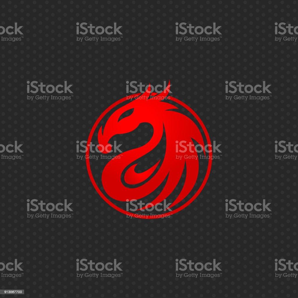 Dragon icon design template ,Vector illustration vector art illustration