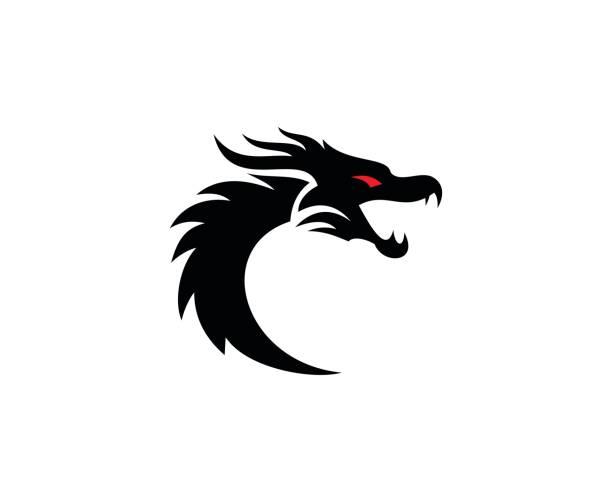 dragon icon - dragon stock illustrations, clip art, cartoons, & icons
