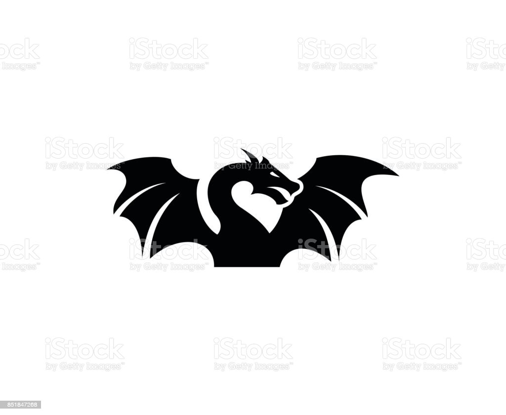 Dragon icon vector art illustration