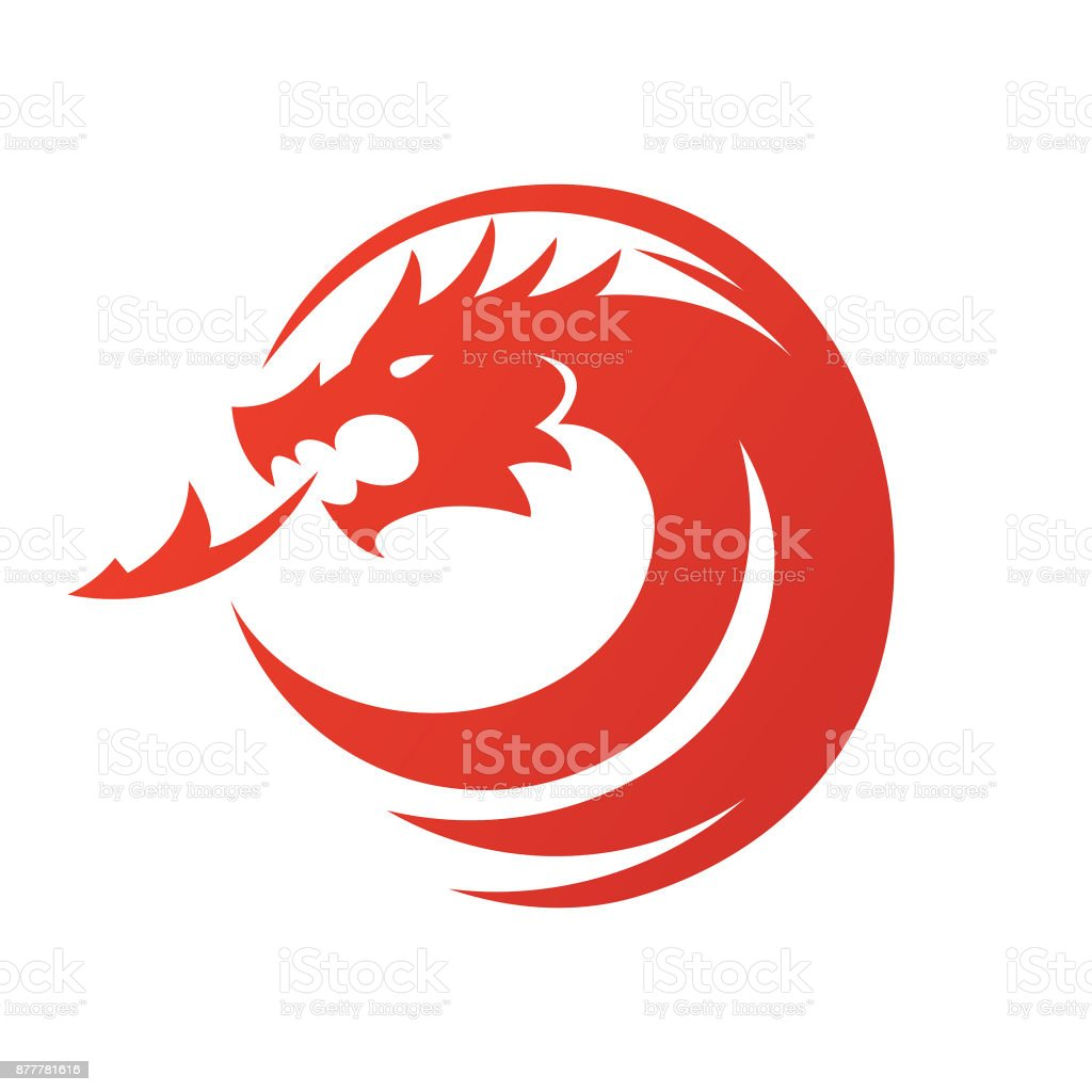 Dragon icon - Vector illustration vector art illustration
