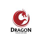 Dragon icon - Vector illustration
