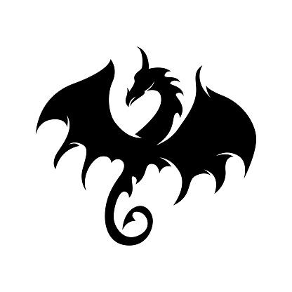 Dragon illustration icon design template vector