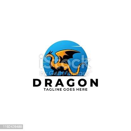 istock Dragon Illustration Vector Template 1192426485