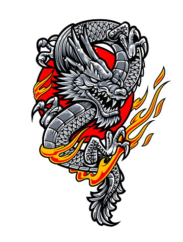 Dragon Japanese Tattoo Art