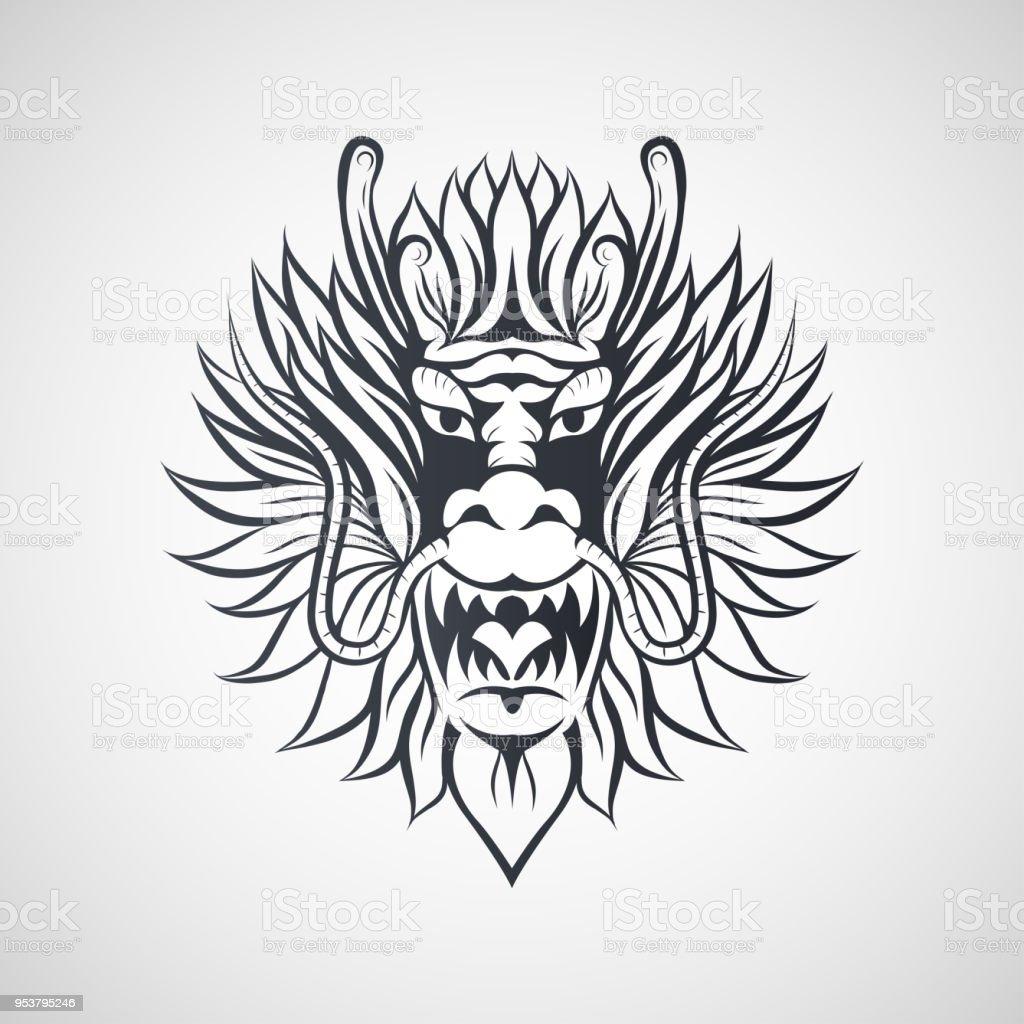 dragon logo vector illustration stock vector art more images of