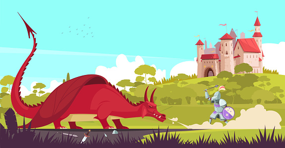 dragon medieval fairy tale legend