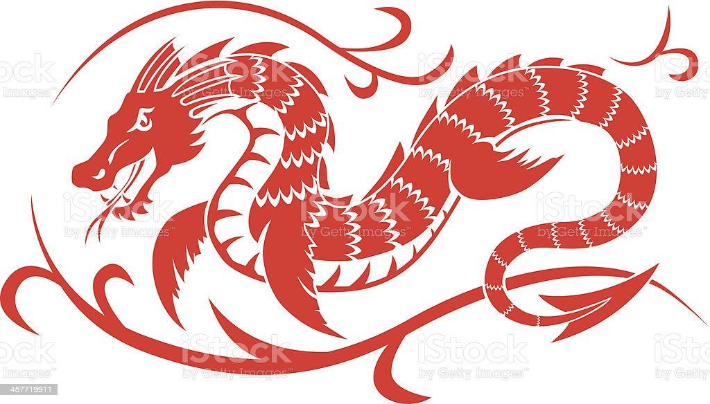 dragon sea royalty-free stock vector art