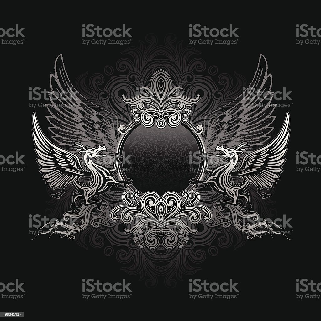 Dragon shield royalty-free dragon shield stock vector art & more images of animal body part