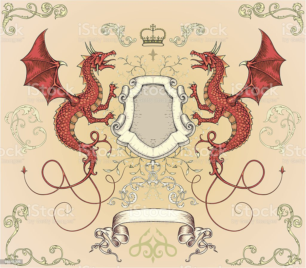 Dragon Shield royalty-free dragon shield stock vector art & more images of animal body part