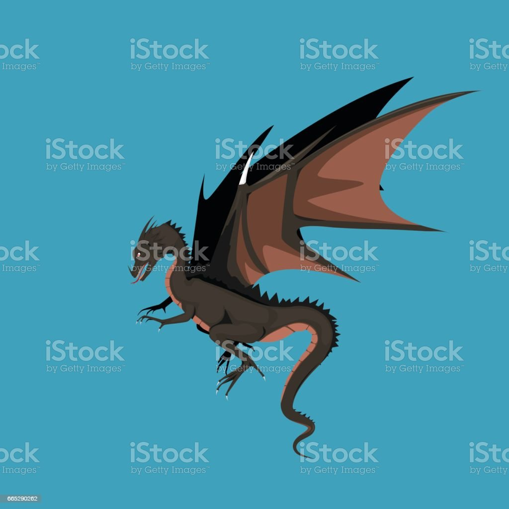 Dragon sign - vector illustration vector art illustration