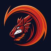 dragon sport gaming mascot logo template