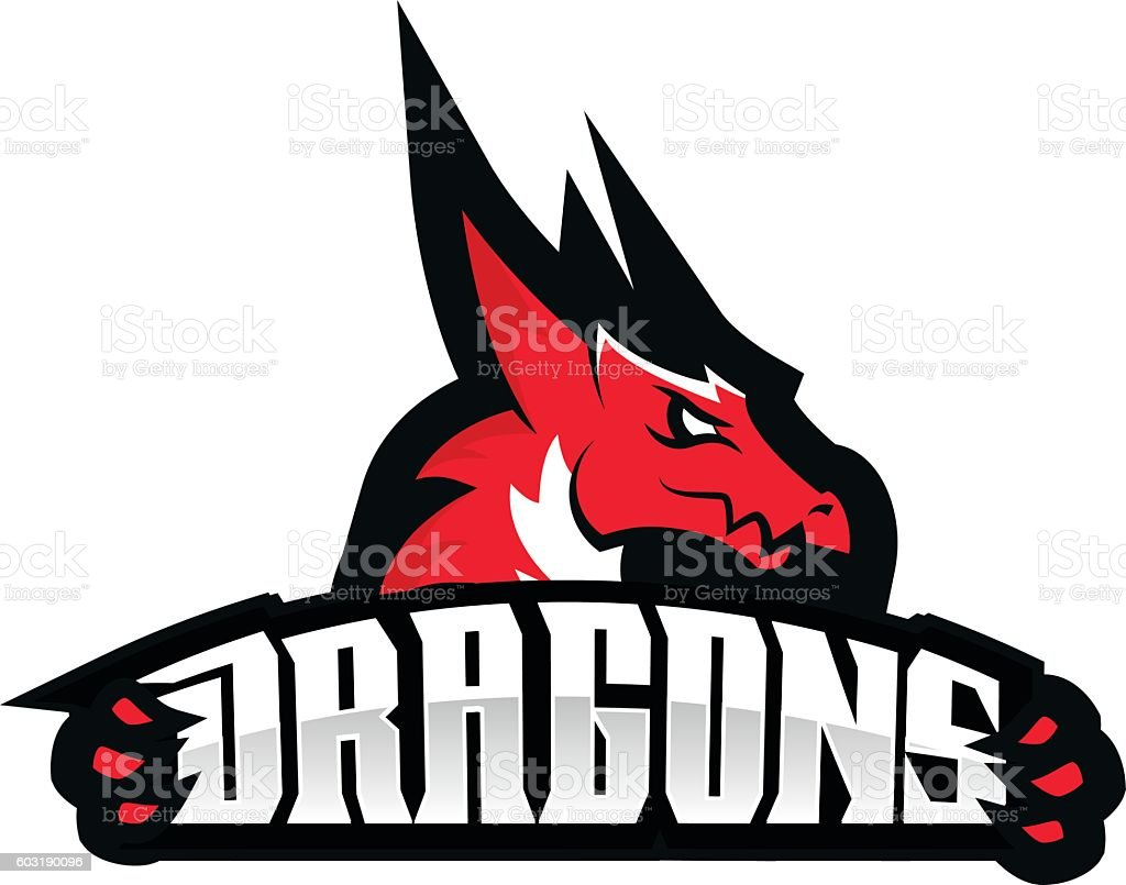 dragon sport logo basketball design arte vectorial de
