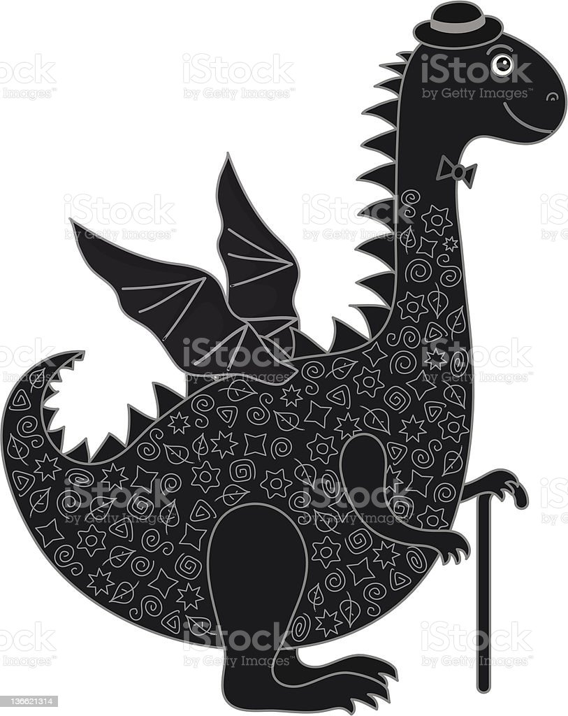 Dragon symbol of East New Years royalty-free stock vector art