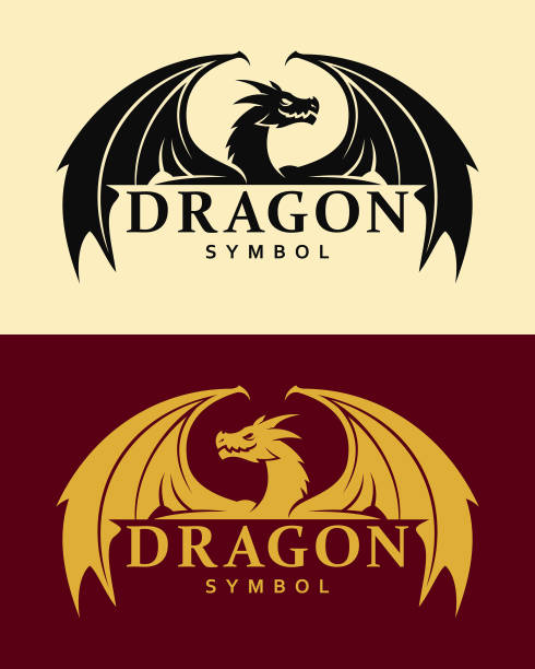 dragon sembol - dragon stock illustrations