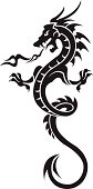 Dragon tattoo isolated on white