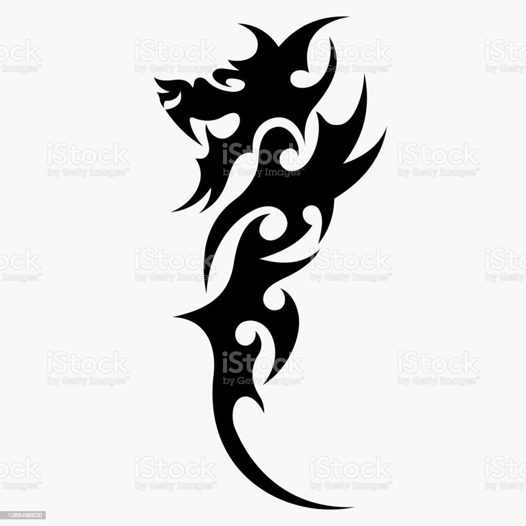 Dragon Tattoo Vector Stock Illustration Download Image Now