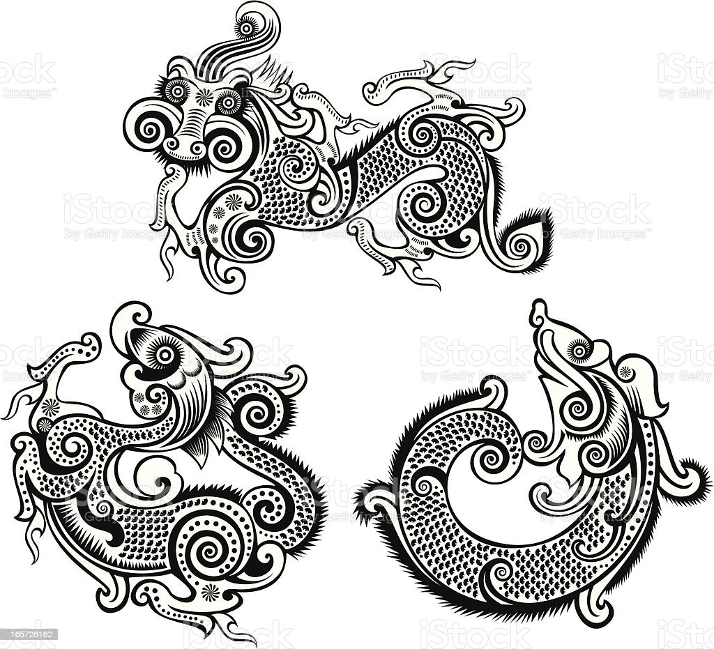 dragon totem royalty-free dragon totem stock vector art & more images of abstract