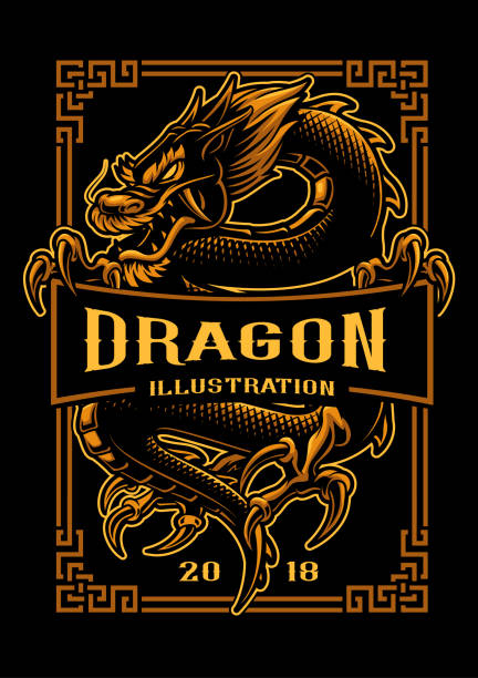 Design de t-shirt Dragon - Illustration vectorielle