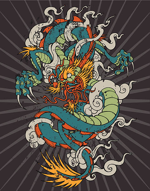 illustrations, cliparts, dessins animés et icônes de dragon - tatouages dragons