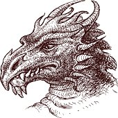 The vector drawing of a fairy dragon.