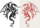 Illustration of a dragon, EPS 8.