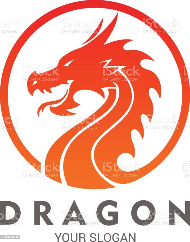 dragon stock vector art more images of animal 683038686 istock rh istockphoto com vector dragon boat vector dragon silhouette