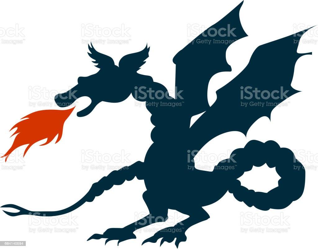 Dragon royaltyfri dragon-vektorgrafik och fler bilder på abstrakt
