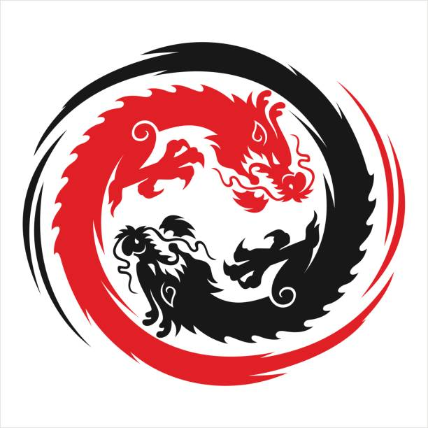 dragon   - 竜のタトゥー点のイラスト素材/クリップアート素材/マンガ素材/アイコン素材