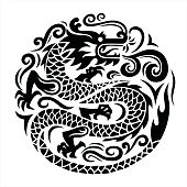 dragon icon, chinese dragon, dragon symbol