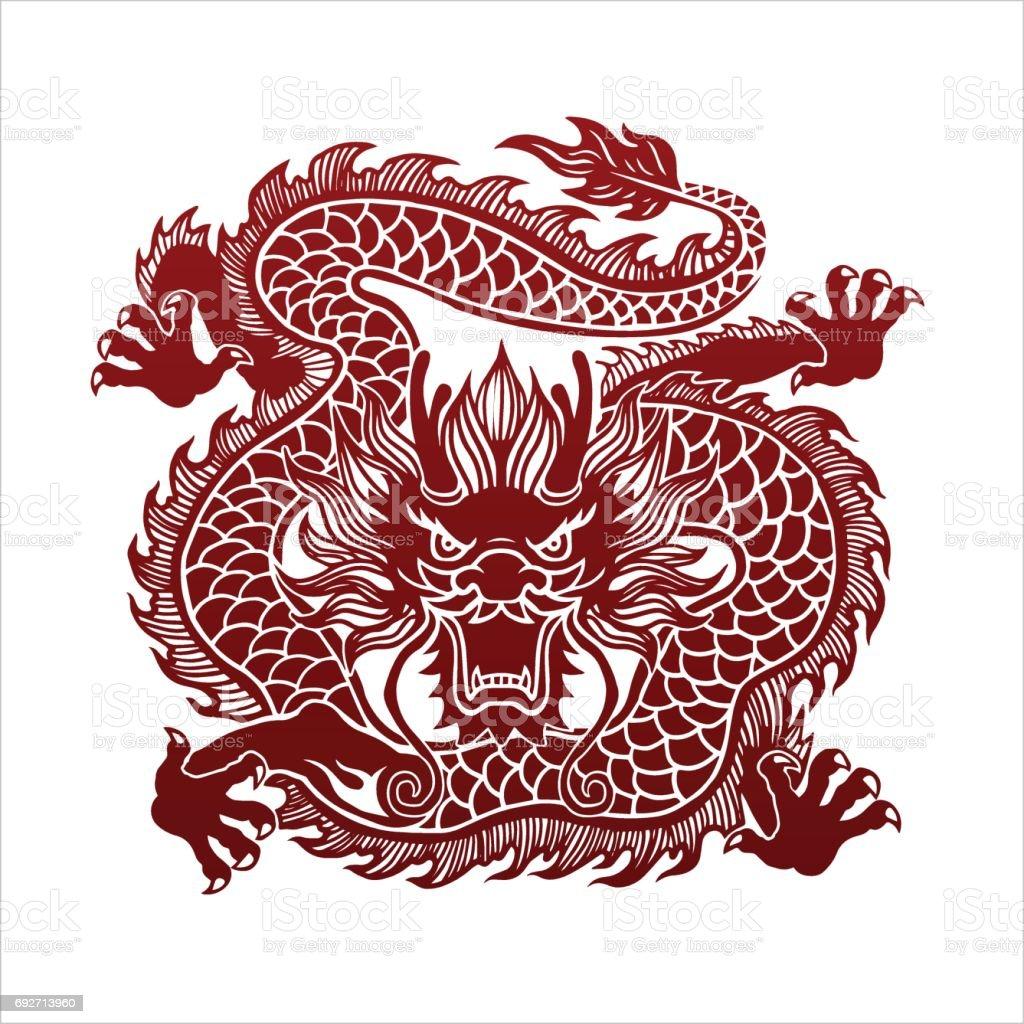 Dragon  - ilustración de arte vectorial