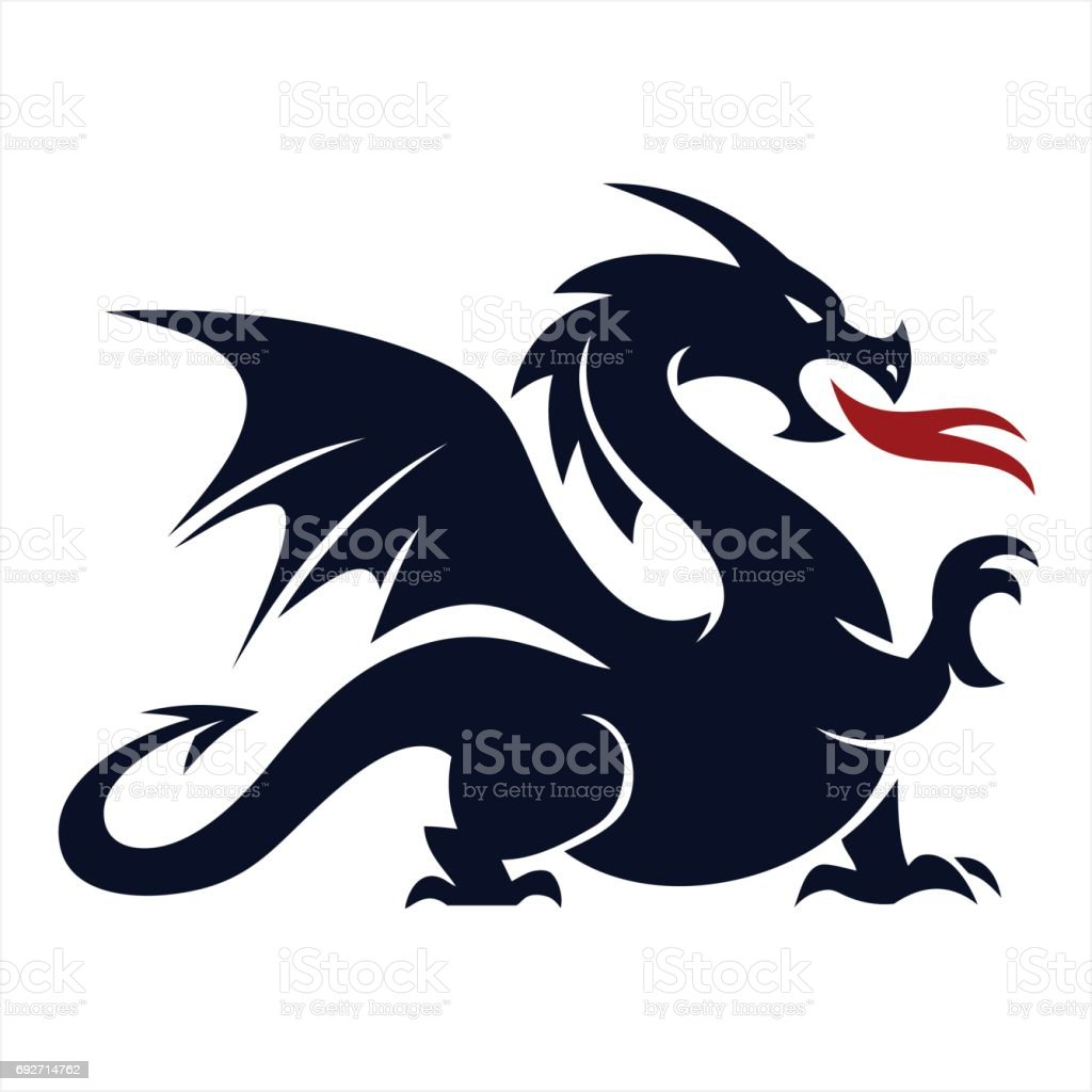 Dragon vector art illustration
